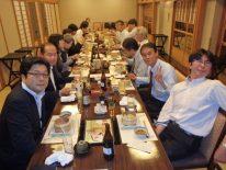 繁忙期の打ち上げも兼ねて、湯葉と豆腐料理の店「梅の花」にて開催されました。